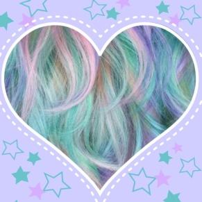 mermaid unicorn pastel hair